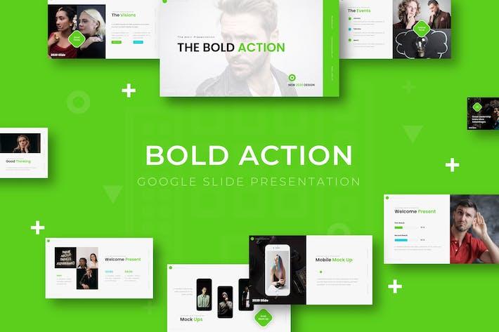 Thumbnail for Bold Action - Google Slide Template