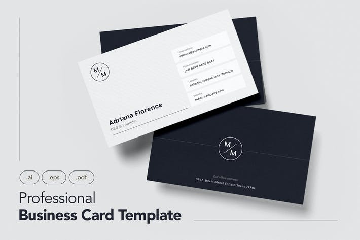 Thumbnail for Professional and Minimalist Business Card V.7