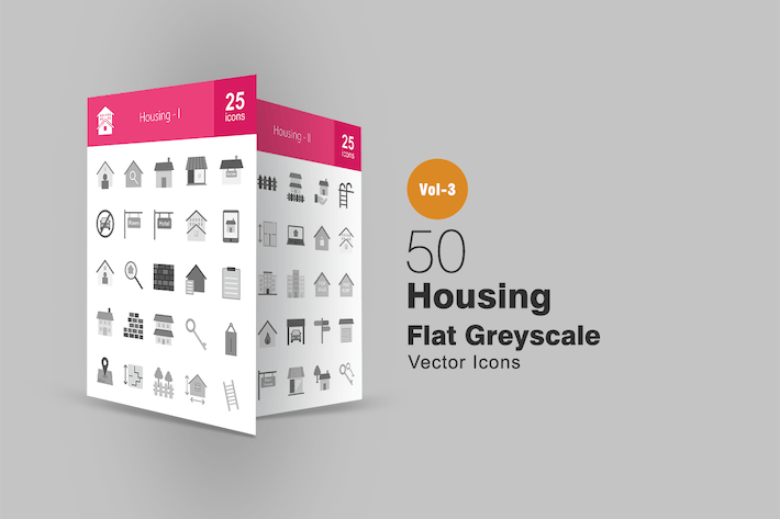 Thumbnail for 50 Housing Greyscale Icons