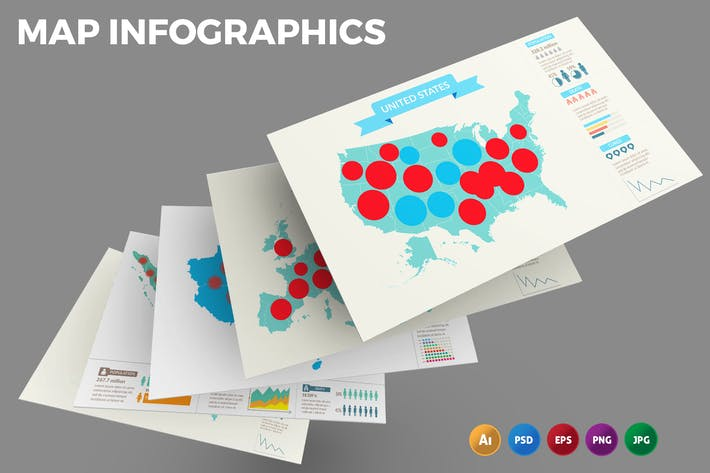 Thumbnail for Map – Infographics Design