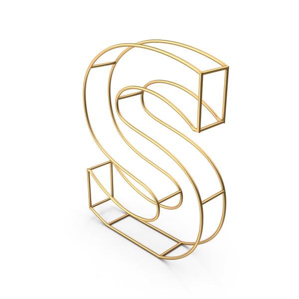 Декоративная проволочная буква S