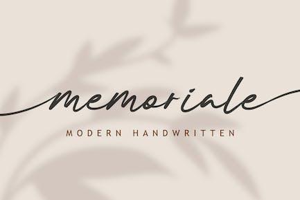 DS Memoriale - Modern Handwritten