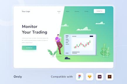 Business  Trading Header