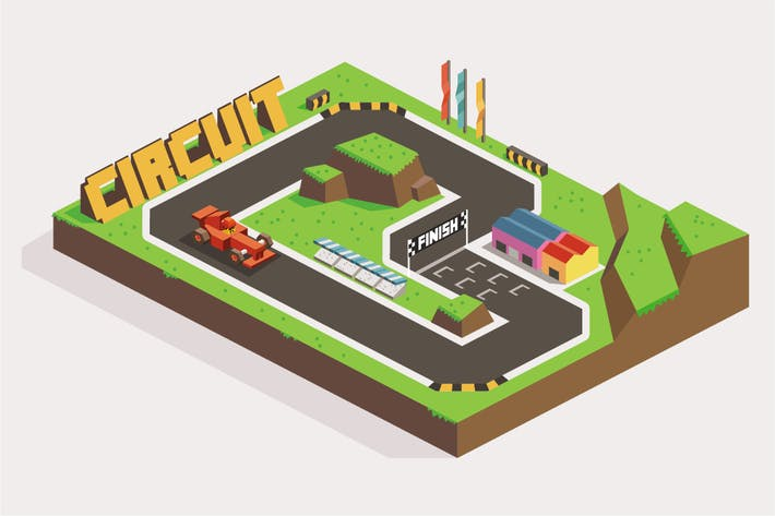 Cover Image For Circuit Car Race
