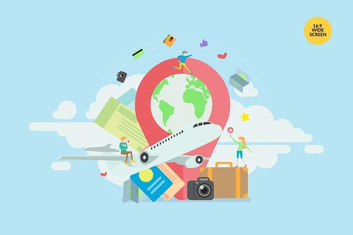 Cover Image For Summer Holiday Travel Vector Concept Illustration