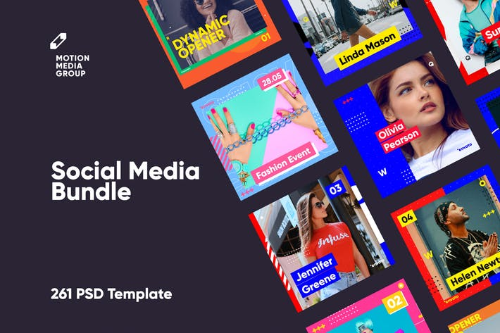 Thumbnail for Social Media Bundle - 261 PSD
