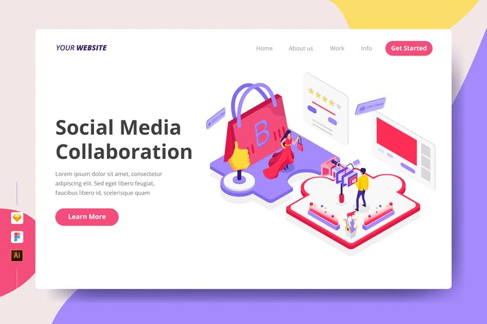 Cover Image For Social Media Collaboration - Landing Page