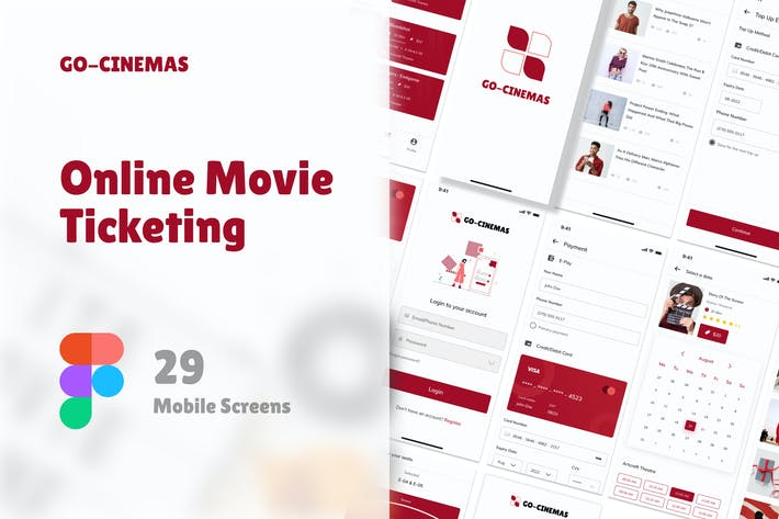 Thumbnail for Go Cinema - Movie Mobile App UI kit Figma