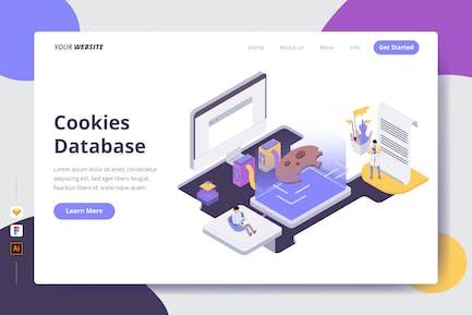 Cookies Database - Landing Page