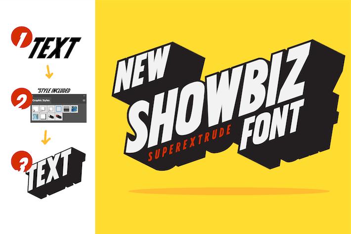 Thumbnail for Showbiz, fuente de título elegante y nítida