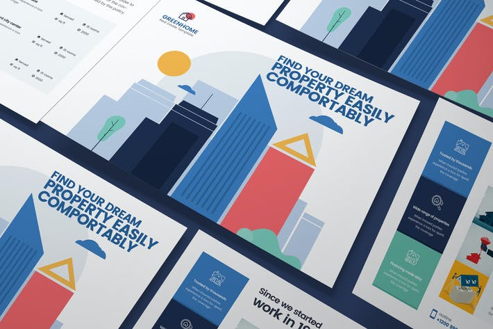 Cover Image For Real Estate A5 Business Flyer PSD Template