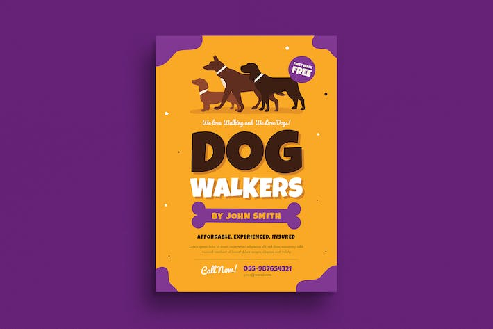 Cover Image For Dog Walkers Flyer