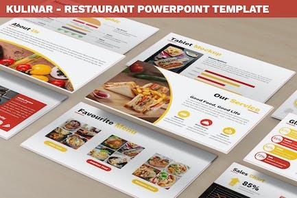 Кулинар - Шаблон ресторана Powerpoint