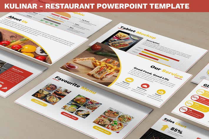 Thumbnail for Kulinar - Restaurant Powerpoint Template