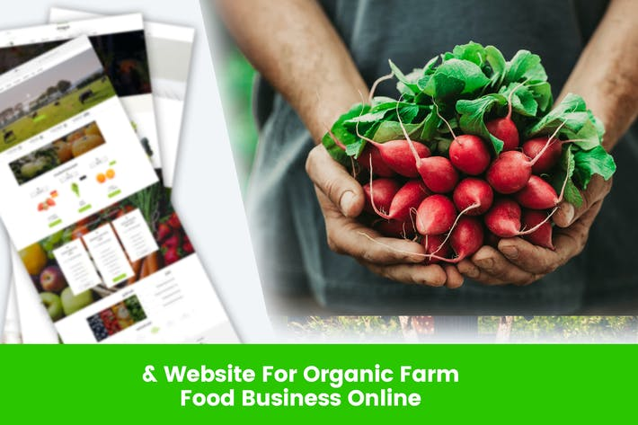 Thumbnail for Website For Organic Farm & Food Business Online