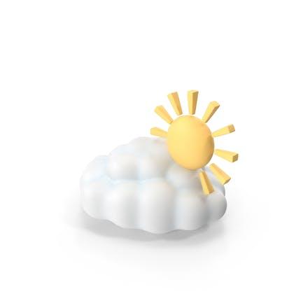 Símbolo del tiempo parcialmente nublado