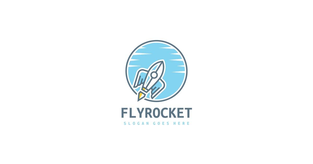 Download Fly Rocket Logo by 3ab2ou