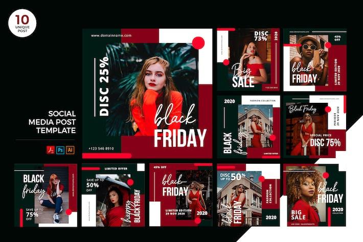 Thumbnail for Black Friday Social Media Kit PSD & AI