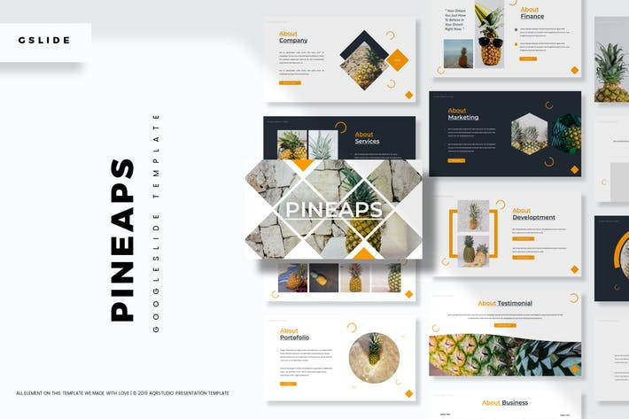 Thumbnail for Pineaps - Google Slides Template