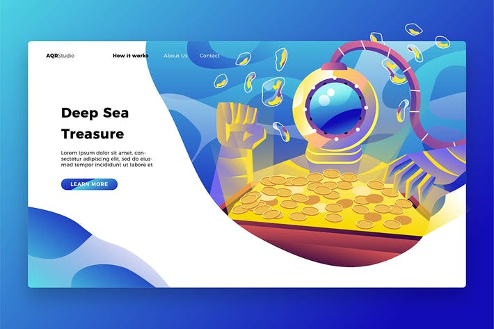 Thumbnail for Sea Treasure - Banner & Landing Page