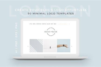 London 50 Minimal Logo Templates