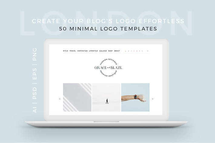 Thumbnail for London 50 Minimal Logo Templates