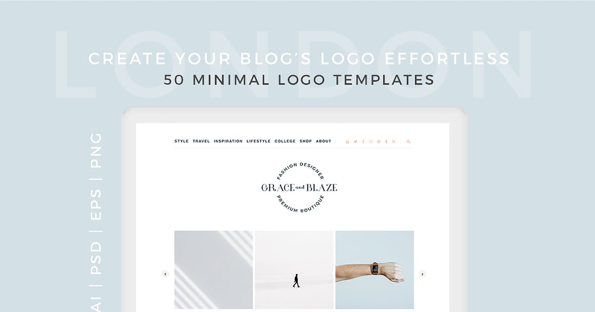 London 50 Minimal Logo Templates by SlideEmpire