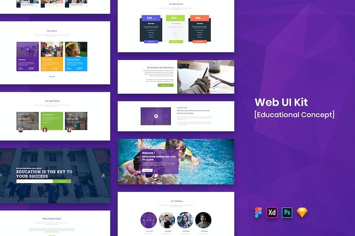 Thumbnail for Educational Web UI Kit-02