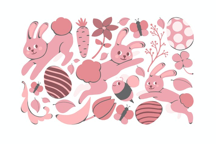 Thumbnail for Easter Bunnies Clipart