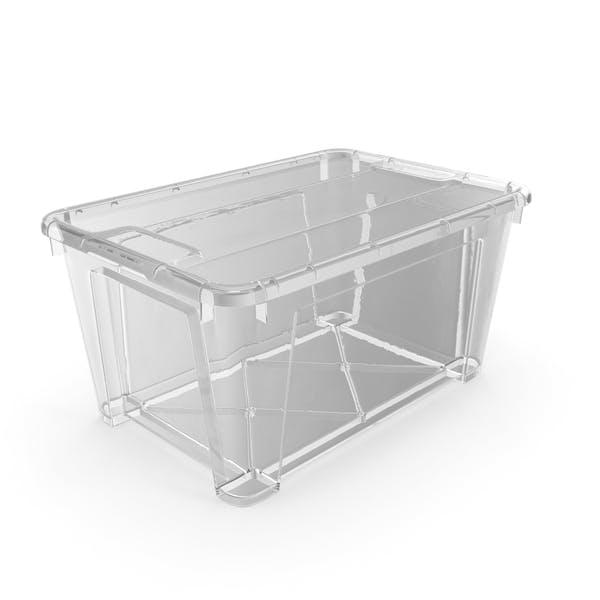 Маленький прозрачный пластиковый контейнер с крышкой