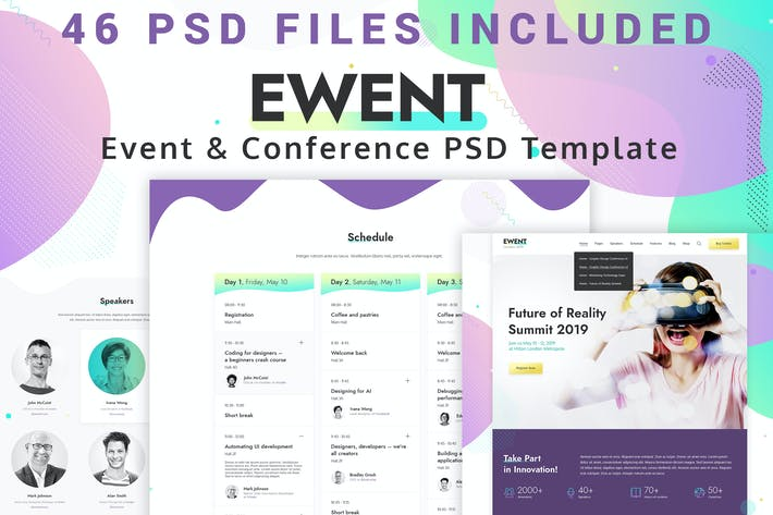 Thumbnail for Ewent - Event & Conference PSD Template