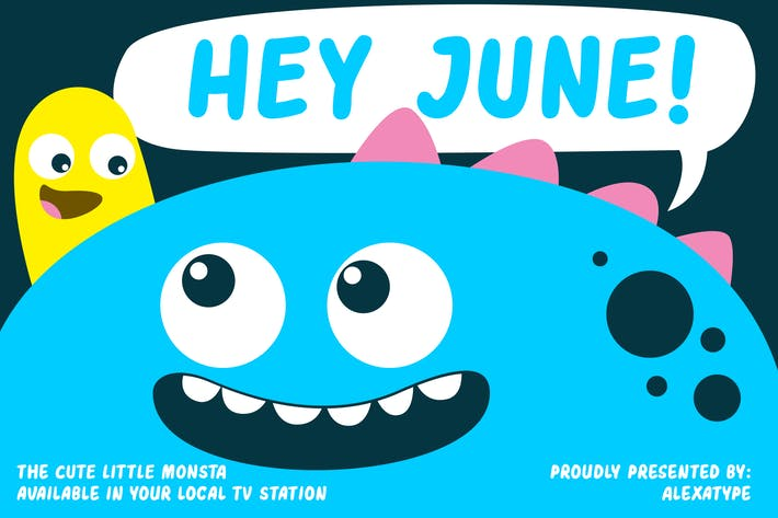 Hey June - Friendly Children Font