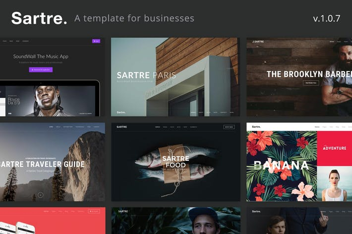 Thumbnail for Sartre - Creative Multipurpose HTML Template