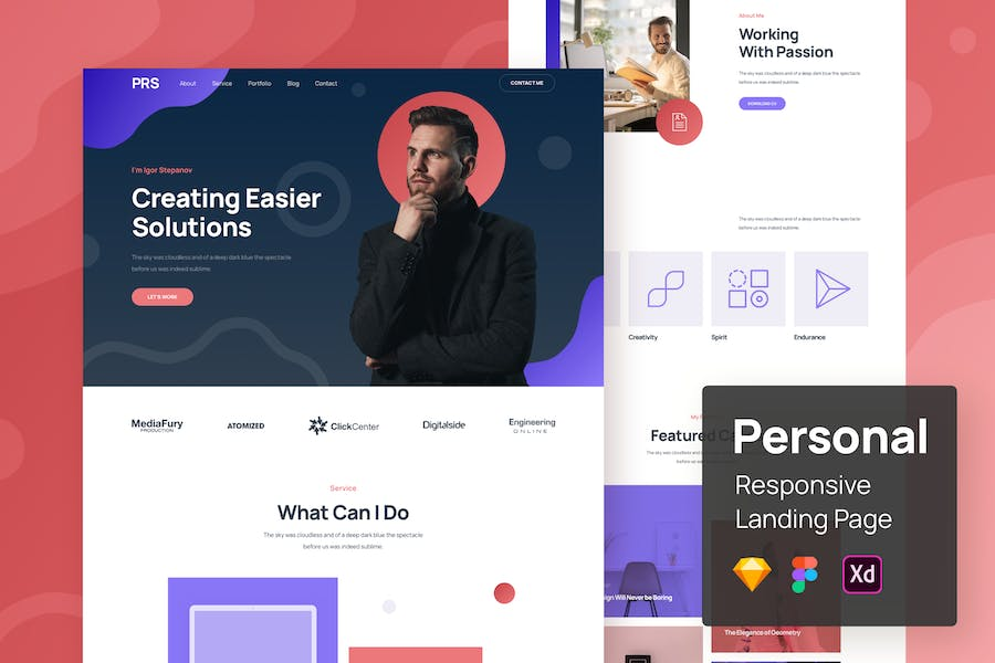 Personal Responsive Landing Page