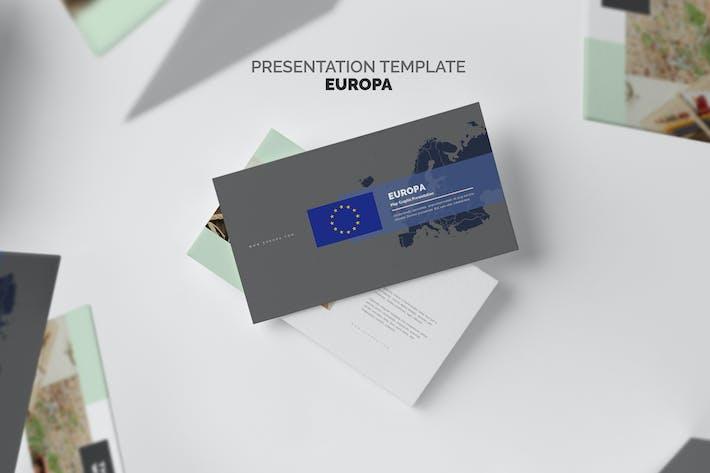 Thumbnail for Europa : Europe Region Vector Map Google Slides