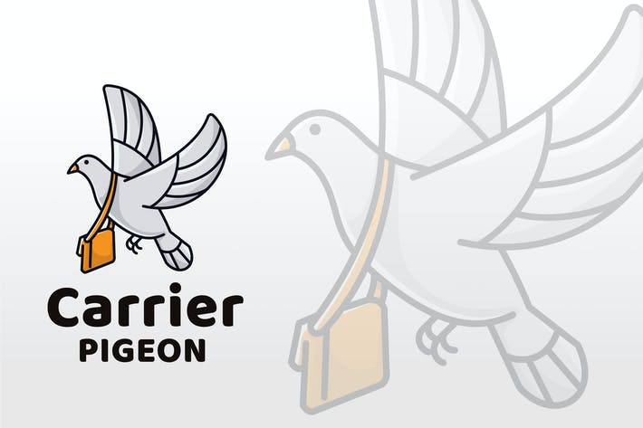 Thumbnail for Carrier Pigeon logo Template