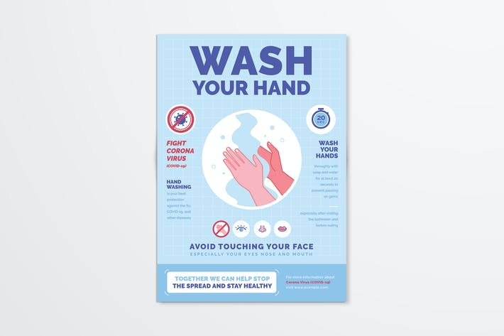 Thumbnail for Wash Your Hand Poster / Flyer Campaign