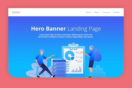 Estor - Hero Banner Landing Page