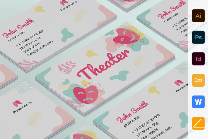 Cover Image For Theater Business Card