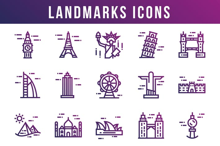 Thumbnail for World Landmarks Icons