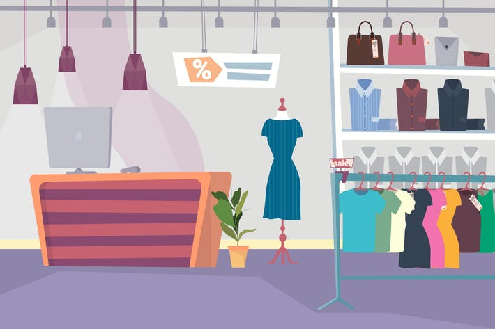 Thumbnail for Clothes Shop - Illustration Background