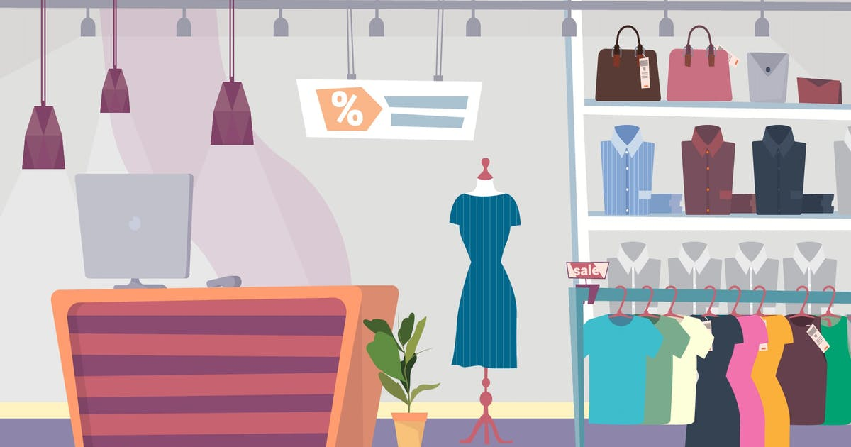 Download Clothes Shop - Illustration Background by motion_party
