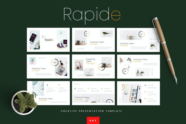 Thumbnail for Rapide - Creative Powerpoint Presentation Template