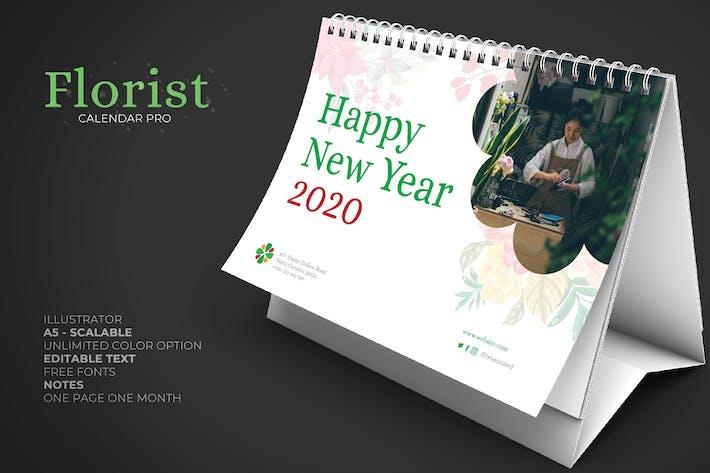 Thumbnail for 2020 Clean Florist Calendar Pro