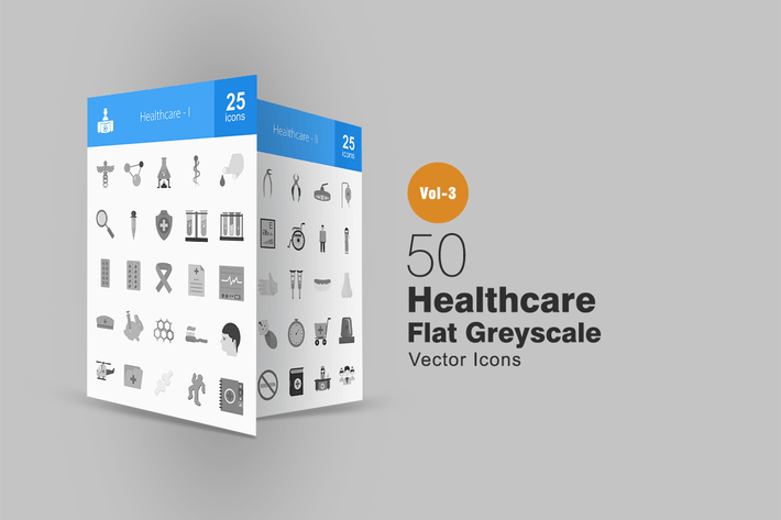 Thumbnail for 50 Healthcare Greyscale Icons
