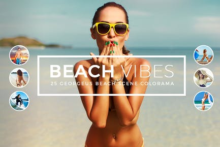 Пляжные Vibes Photoshop Действия