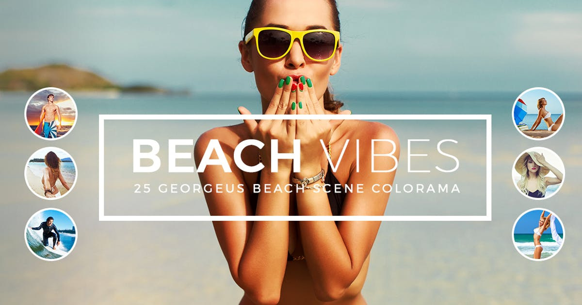 Download Beach Vibes Photoshop Actions by micromove