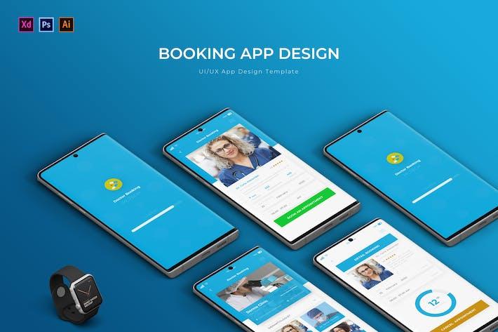 Thumbnail for Reservas | Plantilla de Diseño de Aplicación