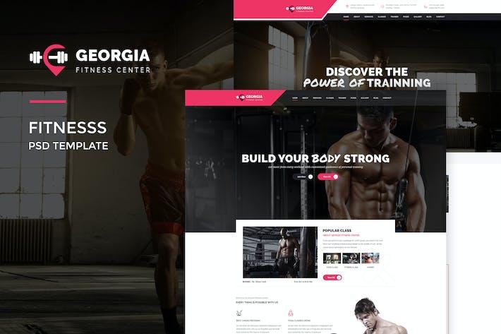 Thumbnail for Georgio : Fitness PSD Template