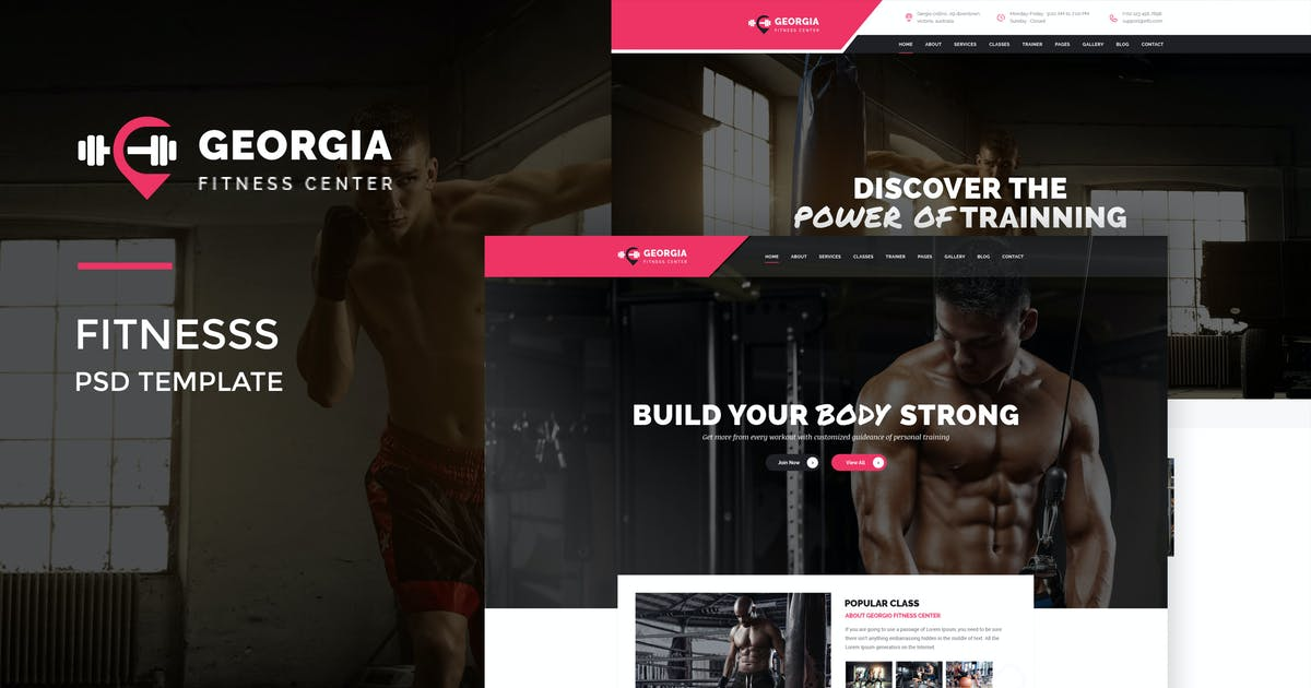 Download Georgio : Fitness PSD Template by VictorThemesNX